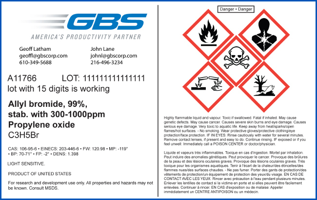 GBS GHS Compliant Label
