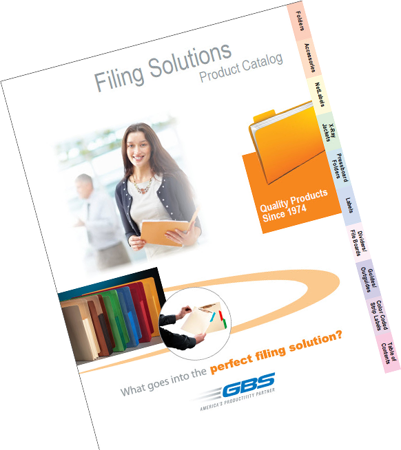 GBS Filing Solutions Product Catalog.