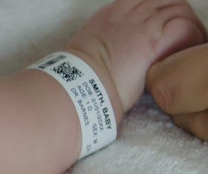 Patient ID Wristband On Baby